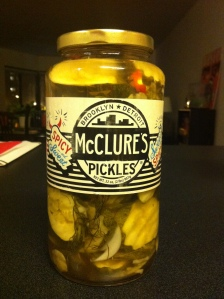 McClure's Sweet and Spicy Pickles.